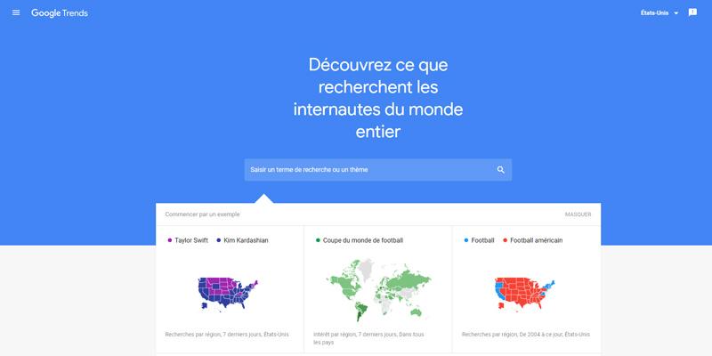 google trend outil gratuit mots clés